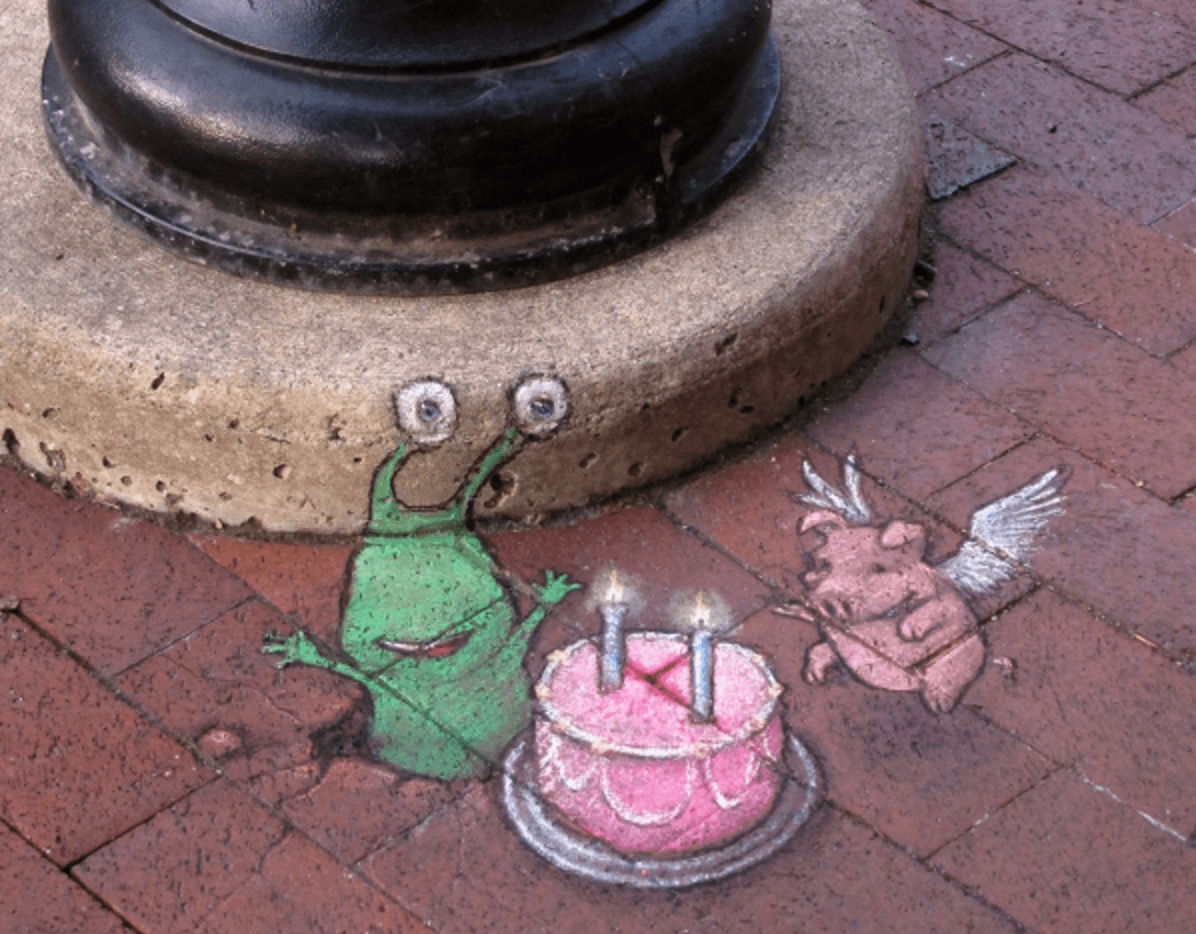 "Artwork by David Zinn, the inspiration for ""Critter Invasion"""